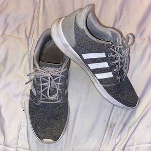 White and grey Adidas Tennis Shoe